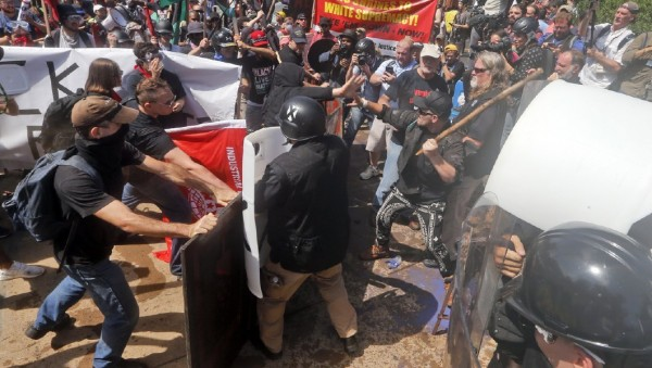 The Latest: Prohibited items seized in Charlottesville