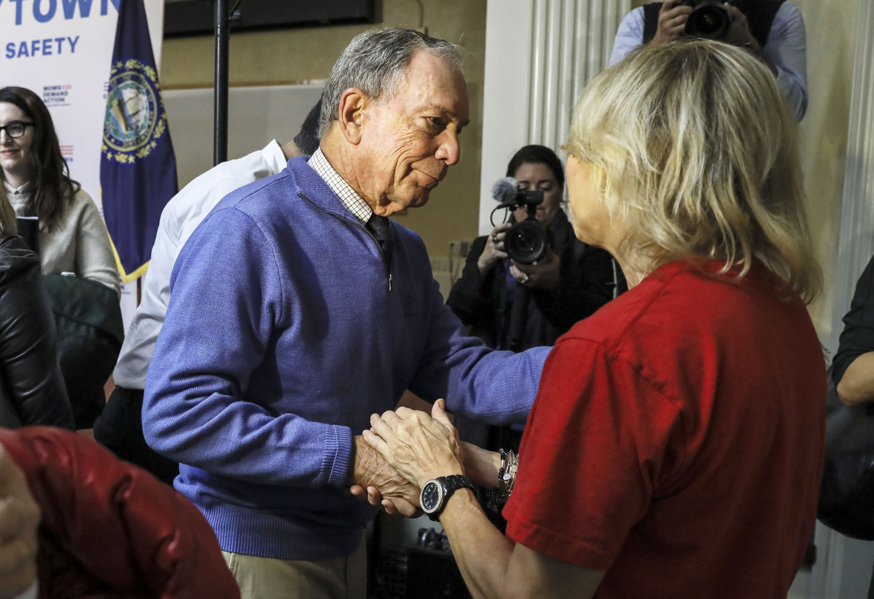 Bloomberg's New Hampshire event fuels White House bid talk