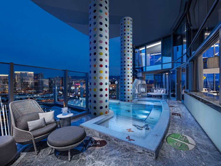 I toured the $10000-a-night penthouse suite of a new luxury hotel in the heart of Times Square in …