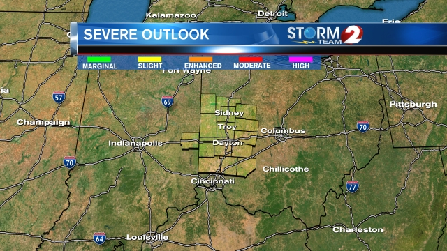 Severe T-storms tracking toward the Miami Valley