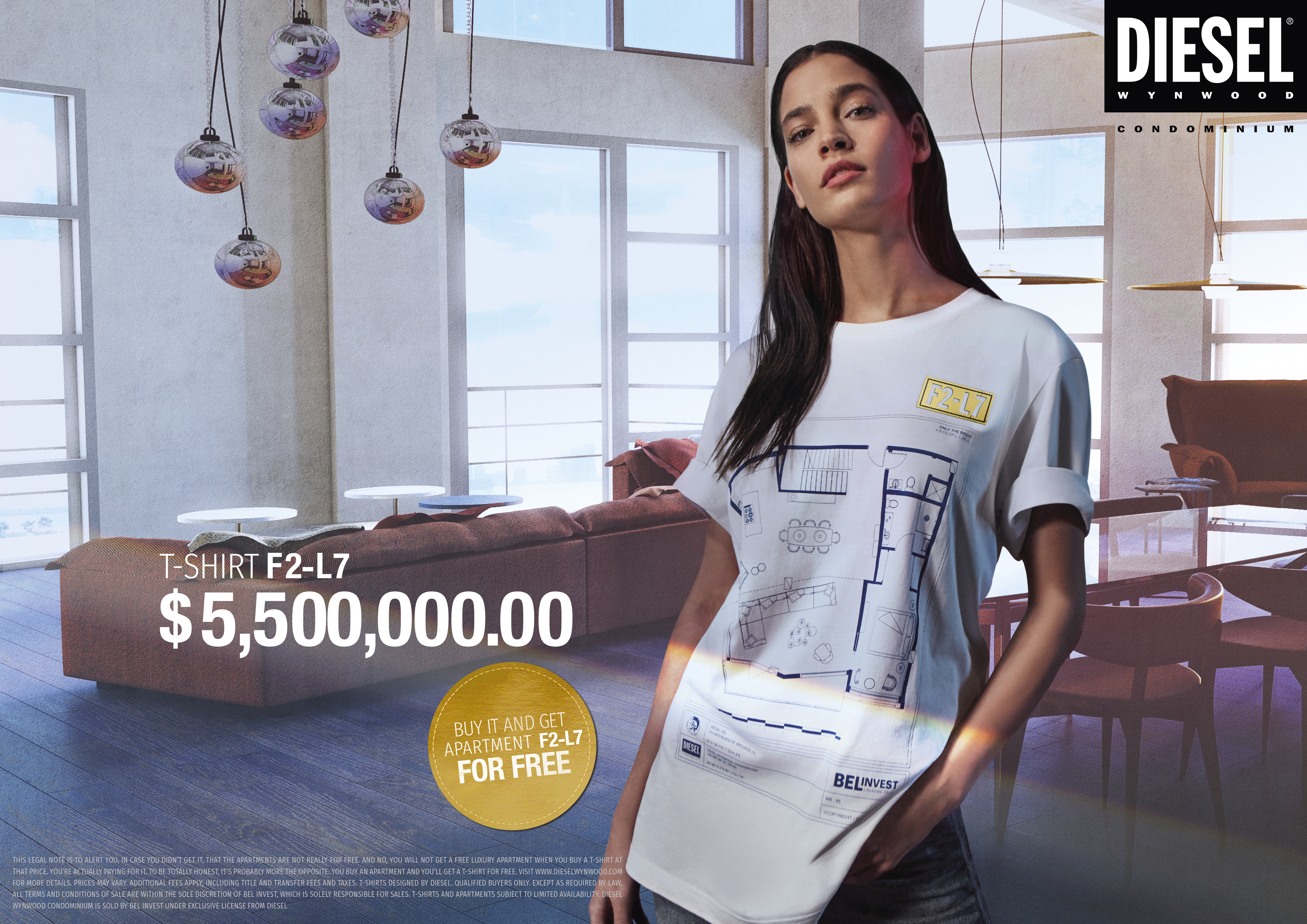 Diesel Uses T-Shirts to Promote New Miami Luxury Condos
